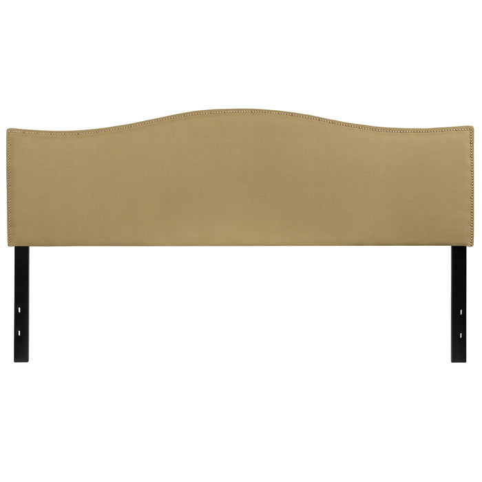 Nicer Furniture - Lexington Upholstered King Size Headboard - Green Fabric