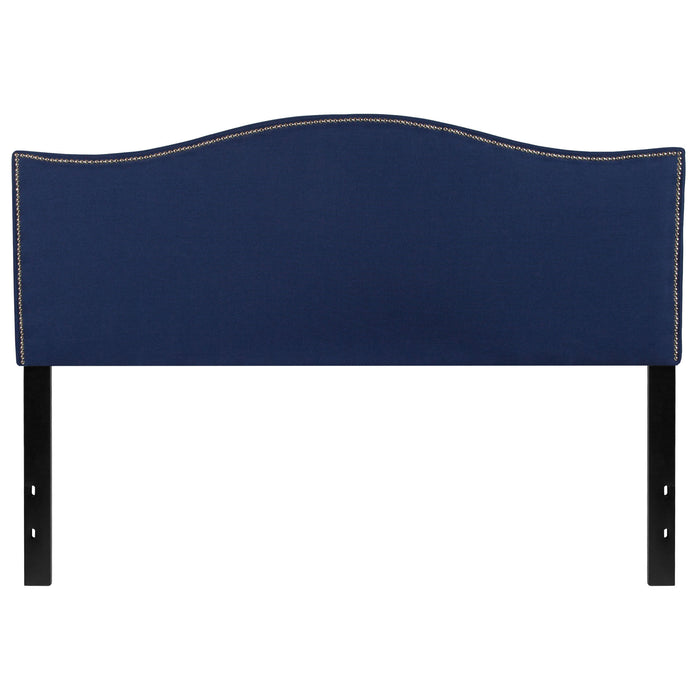 Nicer Furniture - Lexington Upholstered - Queen Size Headboard - Navy Fabric