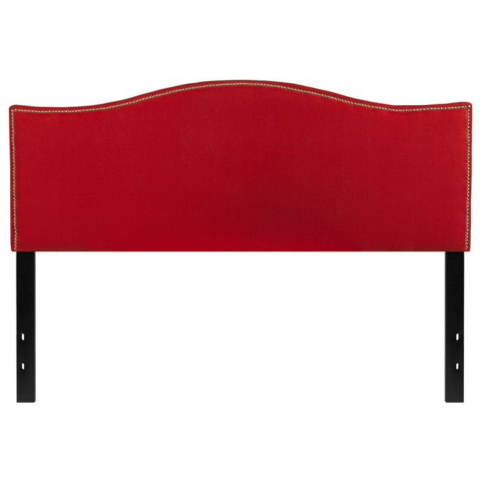 Nicer Furniture - Lexington Upholstered - Queen Size Headboard -Red Fabric