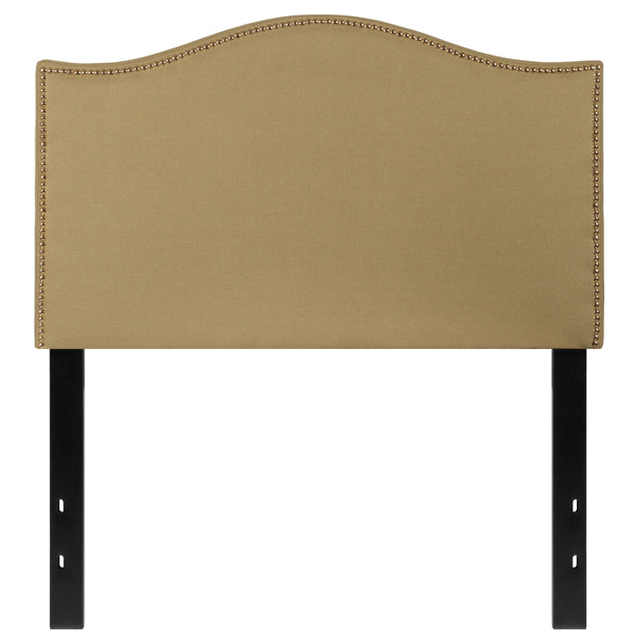 Nicer Furniture - Lexington Upholstered Twin Size Headboard - Green Fabric