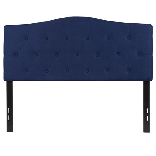 Nicer Furniture - Cambridge Tufted Upholstered Full Size Headboard in Navy Fabric