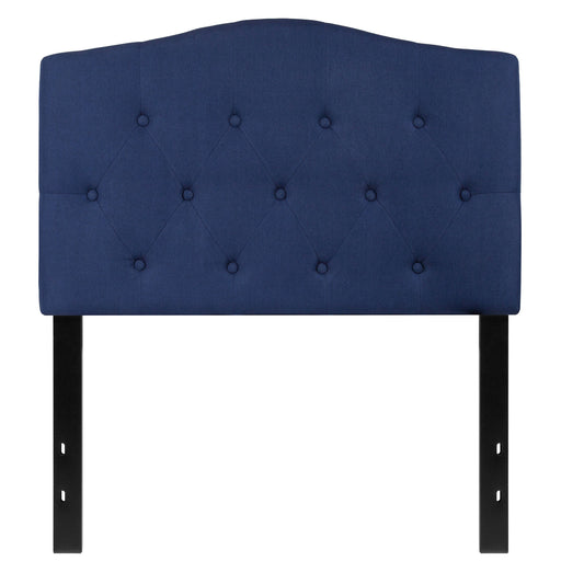 Nicer Furniture - Cambridge Tufted Upholstered - Twin Size Headboard - Navy