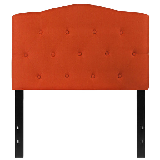 Nicer Furniture - Cambridge Tufted Upholstered  - Twin Size Headboard - Orange