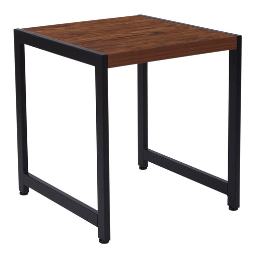 Nicer Furniture - Grove Hill Rustic Wood - End Table  Black Metal Frame