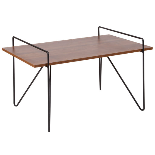 Nicer Furniture  - Porter Cherry Wood - Coffee Table - Black Metal Legs