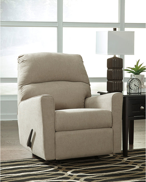 Signature Design by Ashley Alenya Rocker Recliner in Quartz Microfiber