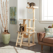 "iPet 56"" Cat Tree Condo Cat Furniture Scratching Post Pet House Beige"