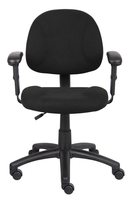 Fabric Deluxe Posture Task Chair Black Computer Desk Chair
