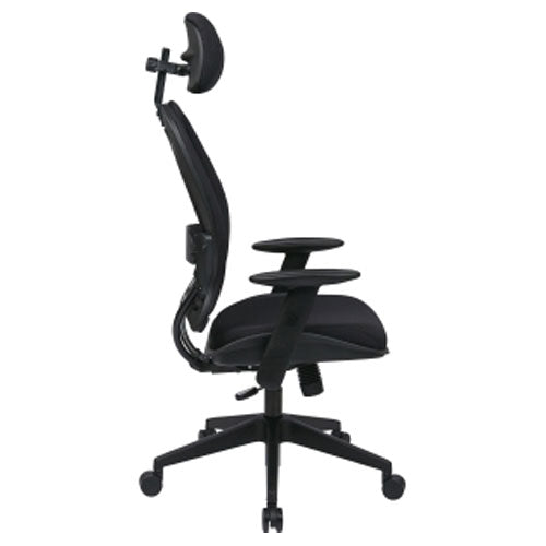 AirGrid Back and Mesh Seat Chair with Adjustable Headrest