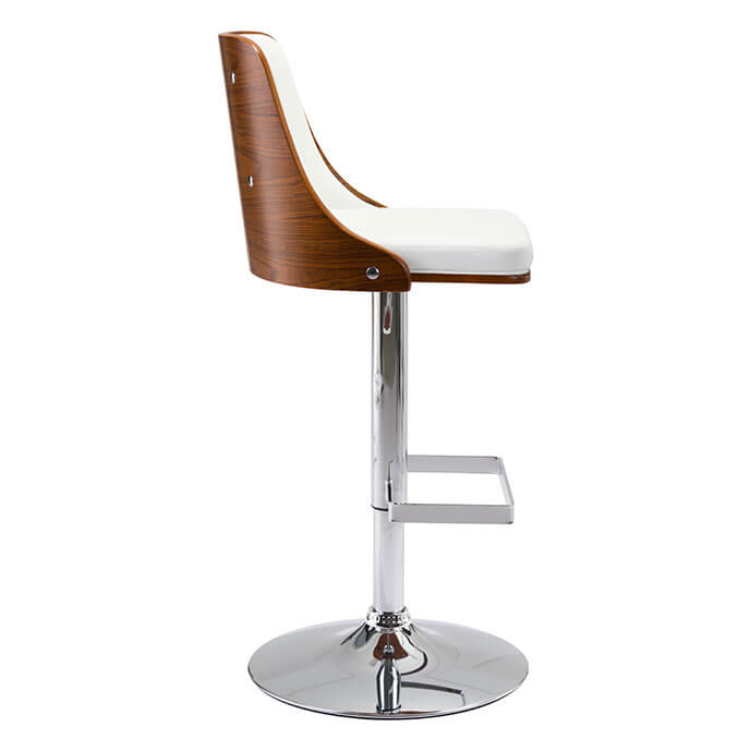 Scooter Bar Chair White