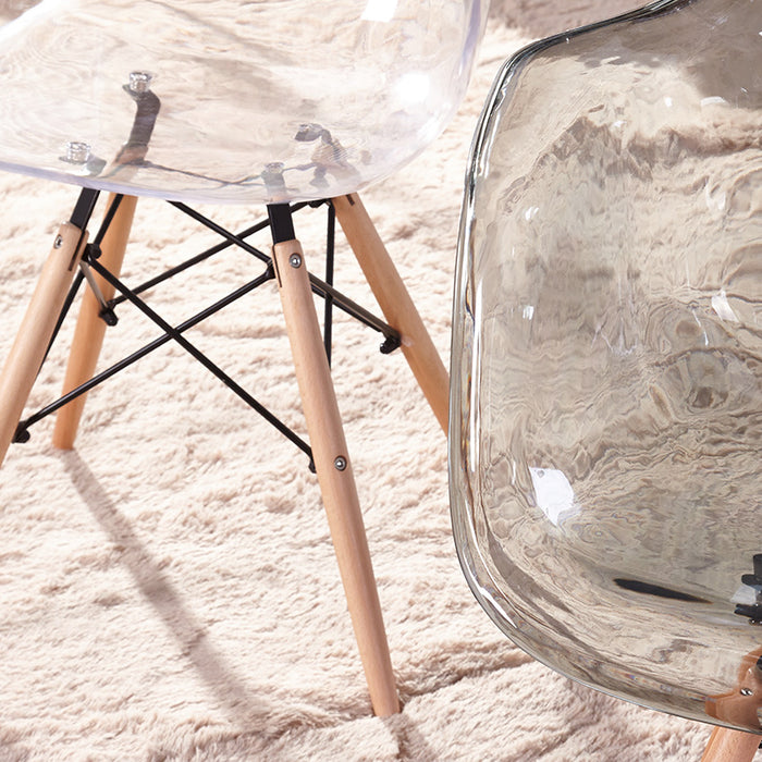 Clear - Modern Eiffel Dining Room Chair (Set of 6)