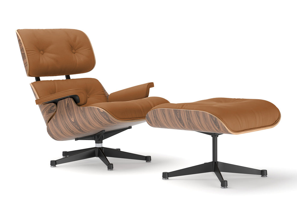Eames Lounge Chair and Ottoman - Dark Brown Italian Leather