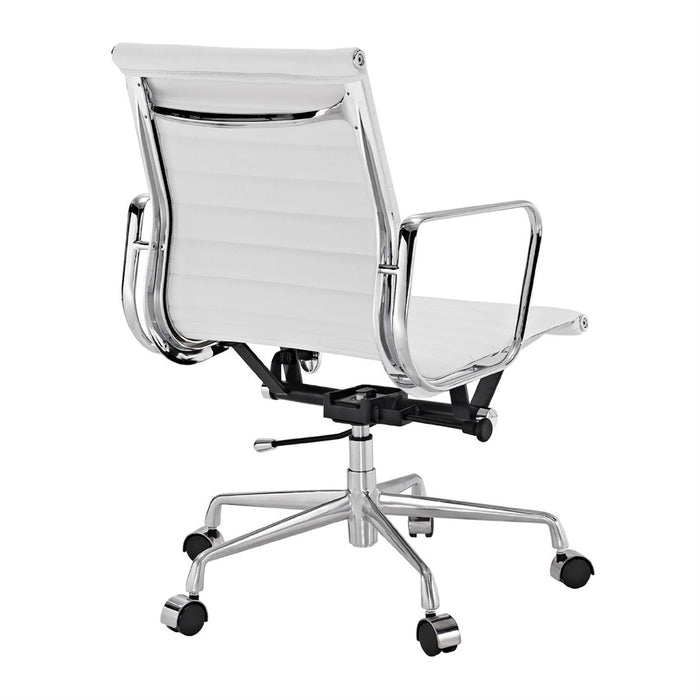 Real leather Executive Chair Conference Chair -White
