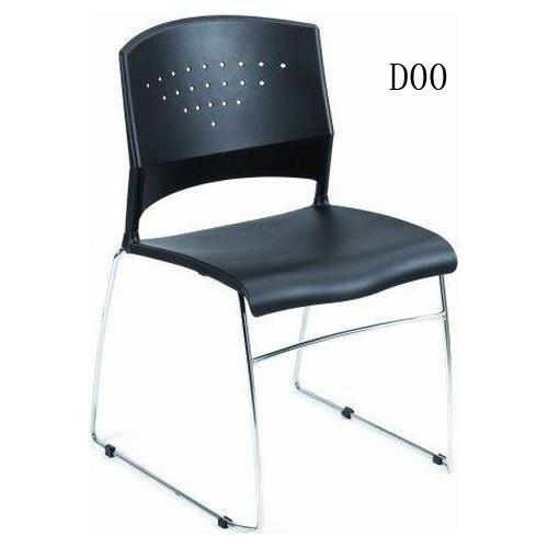 Black Polypropylene Stack Chair Pack - 2