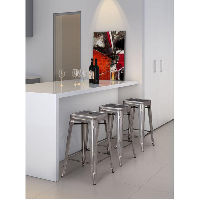 Marius Barstool Gunmetal (Set of 2)