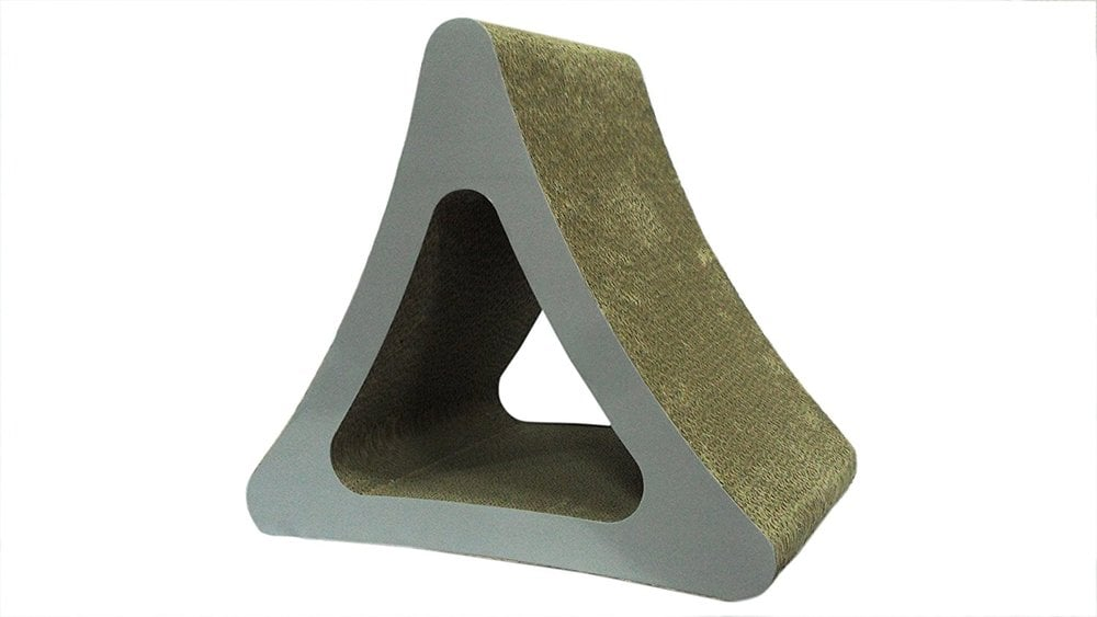 Mordern Triangle  Cat Scratcher Kitten Scratching Lounge Scratch Toy iPet