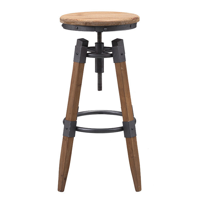 Curry Barstool Natural Pine & Industrial Gray
