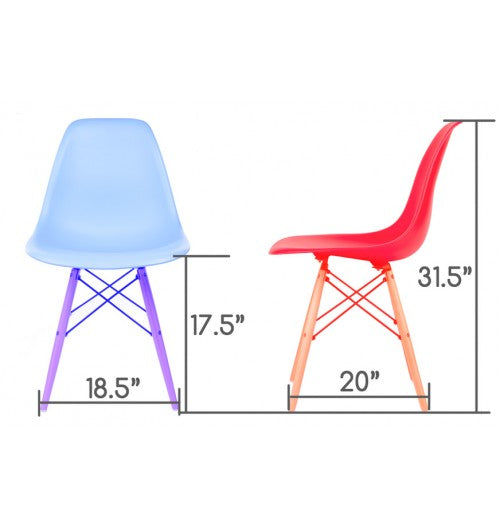 Clear - Eiffel Dining Room Chair (Set of 4)