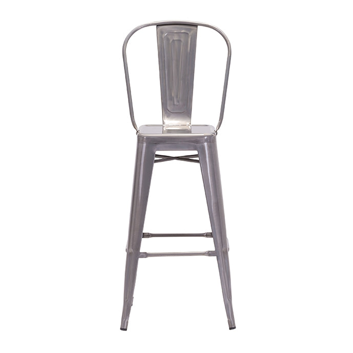 Elio Bar Chair Gunmetal (Set of 2)