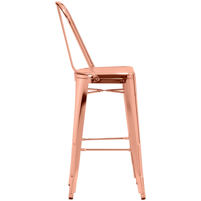 Elio Bar Chair Rose Gold (Set of 2)