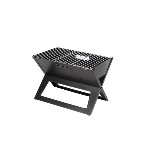 Portable Notebook Design Charcoal Grill in Black