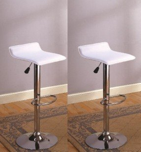 Faux Leather Metal Bar Stool
