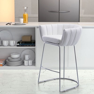 Latte Counter Chair White (Set of 2)