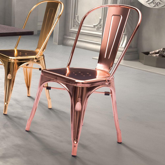Elio Dining Chair Rose Gold (Set of 2)