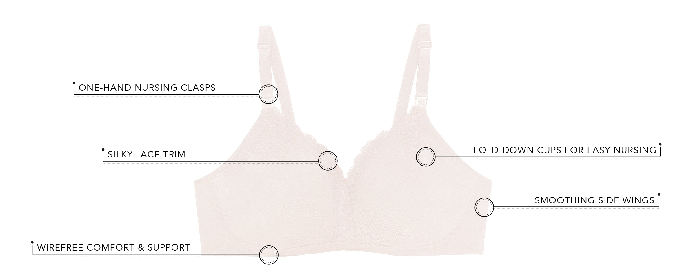The Veronica - Silky Lace Nursing Bra  | 4006 - Product Detail View