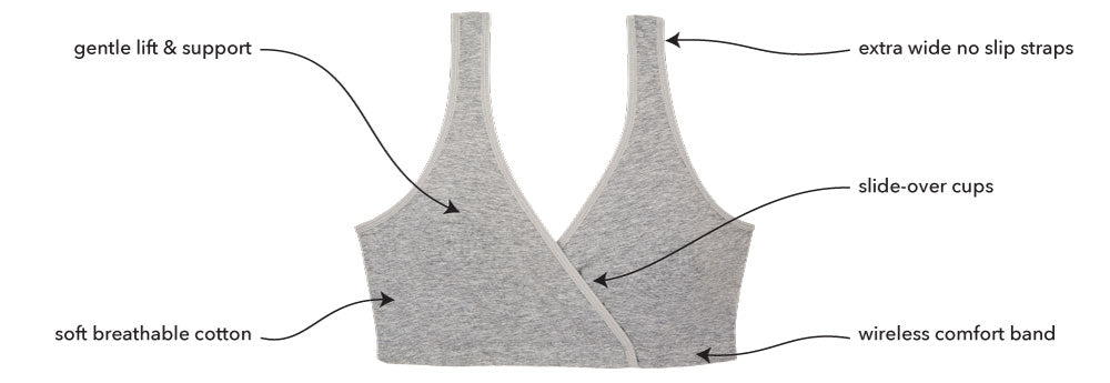 The Felicity 2-Pack - Cotton Sleep Bras | 4024 - Product Detail View