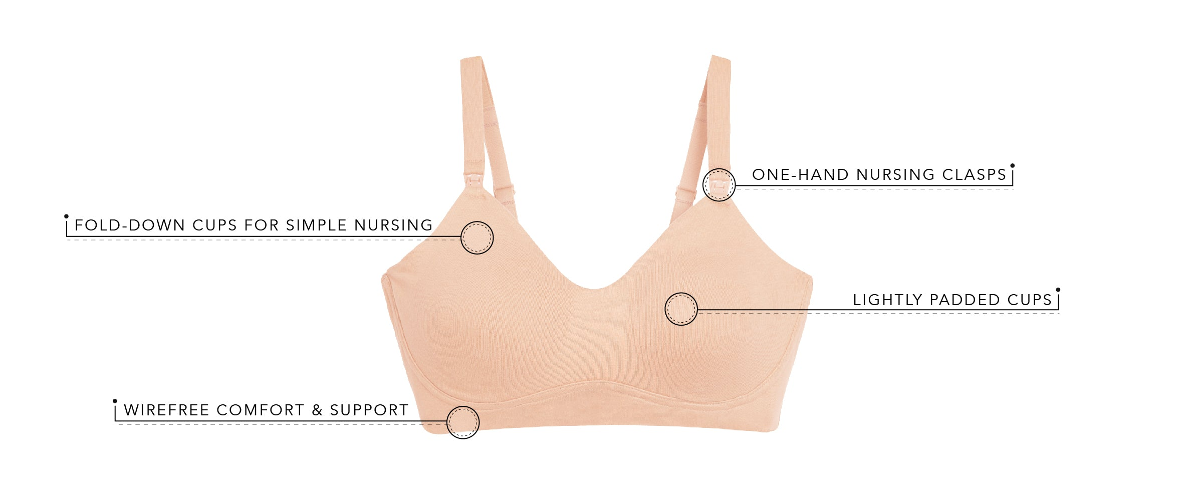 The Natalie - Cotton Sport Wirefree Nursing Bra | 4059 - Product Detail View