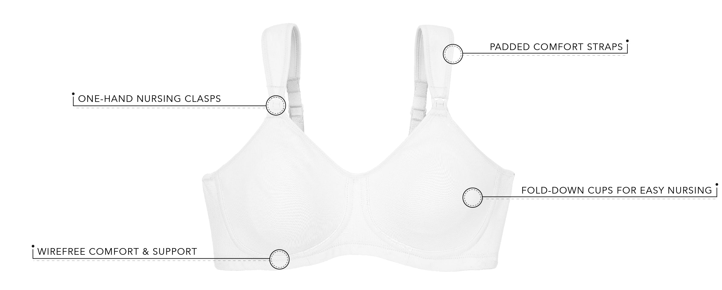 The Vivien - Sport Wirefree Nursing Bra | 4388 - Product Detail View
