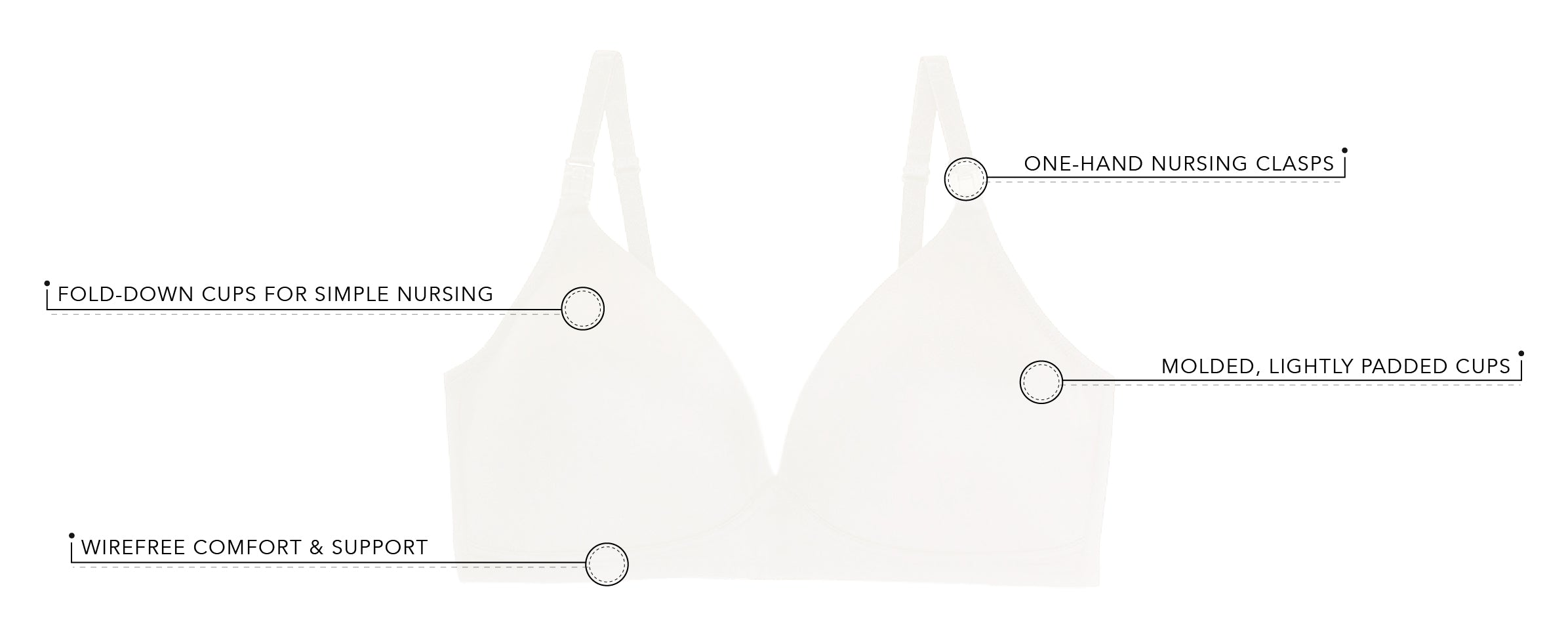 The June - Molded Seamless Wirefree Nursing Bra | 454 - Product Detail View