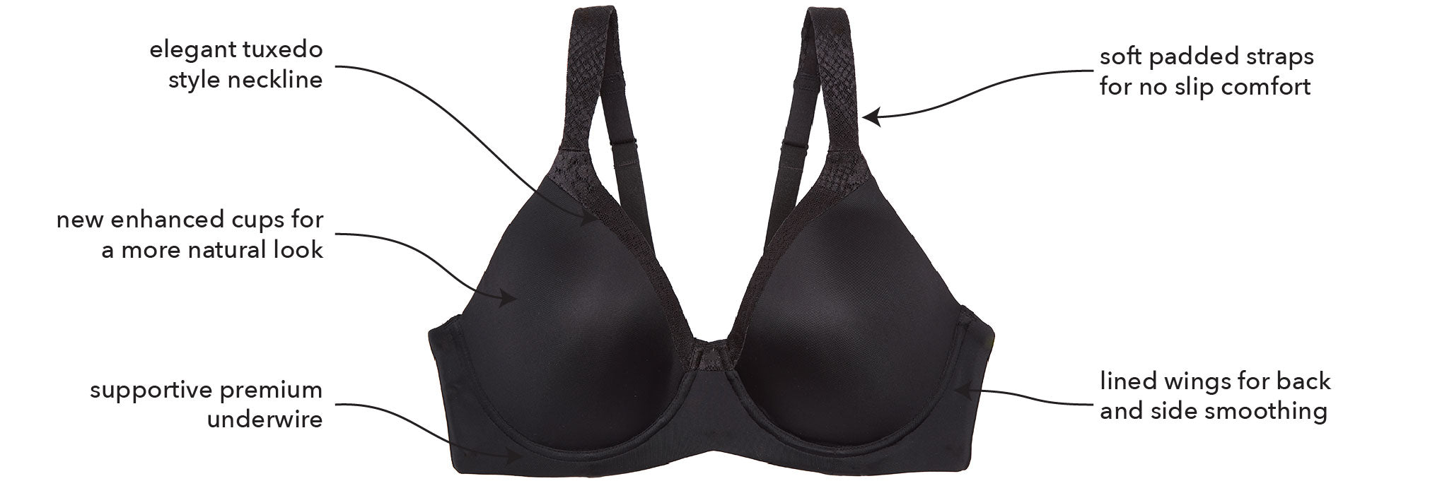 b08b90b4e Your T-shirt Bra just got a premium upgrade! Our Luxe Body Underwire ...