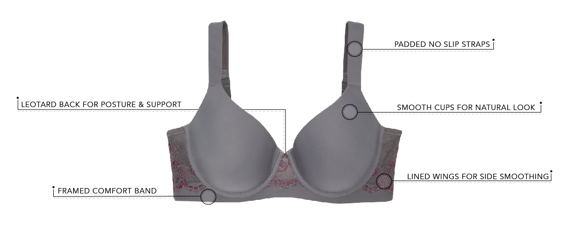 The Brigitte Lace Wirefree - Padded Comfort Bra | 5215 - Product Detail View