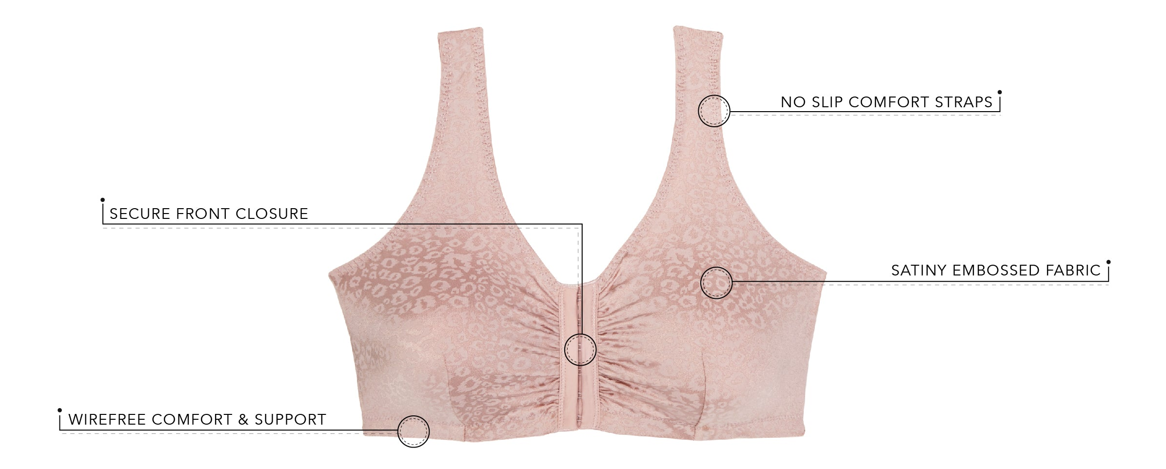 The Lena - Front Closure Leisure Bra | 5420 - Product Detail View