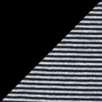 Black & Black Stripe 2PK