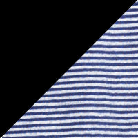 Black & Denim Blue Stripe 2PK