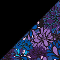 Black & Purple Floral 2PK