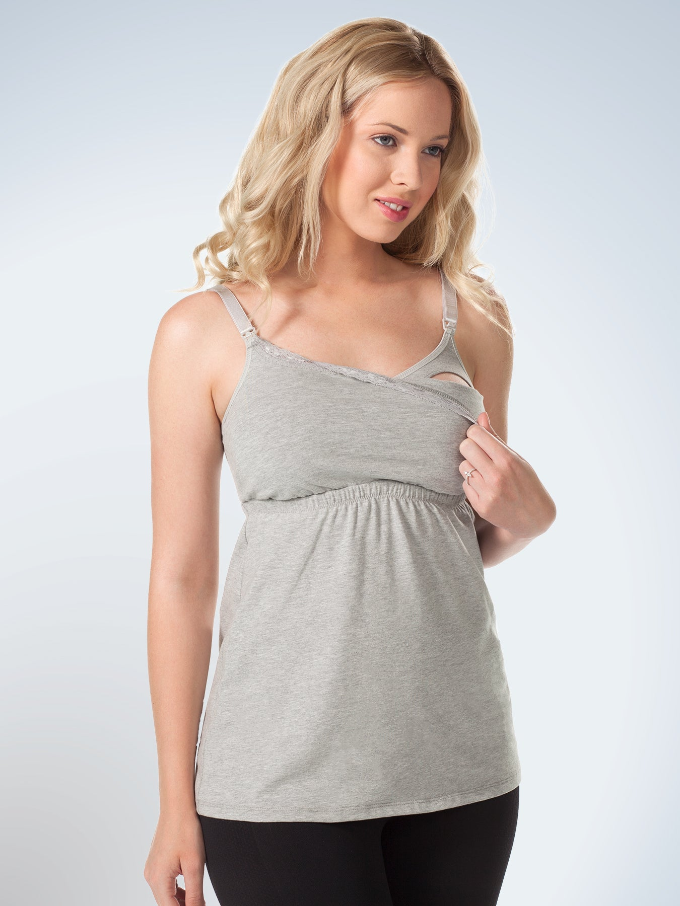 Loving Moments Nursing Cami With Lace L317 Leading Lady Inc