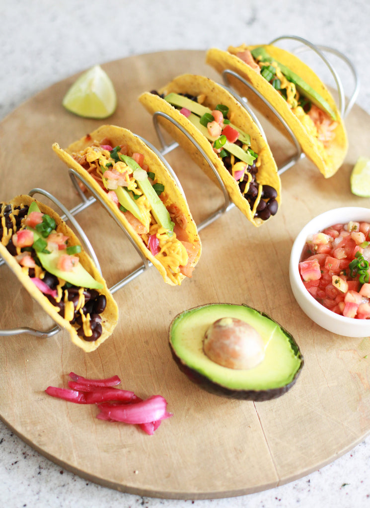 Easy Cashew Cheesy Tacos (vegan, gluten-free, plant-based)