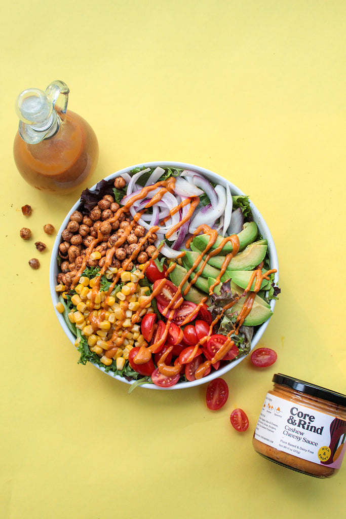 Barbecue Chickpea Salad (Vegan, Gluten-Free, Dairy-Free)