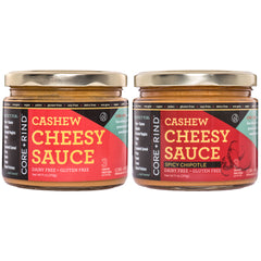 2-Pack Cashew Cheesy Sauce (Original and Spicy Chipotle)