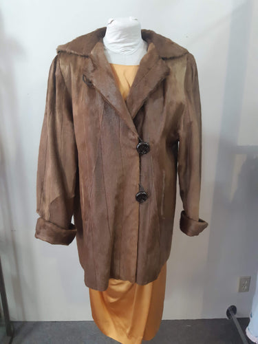 Vintage Brown Fur Coat