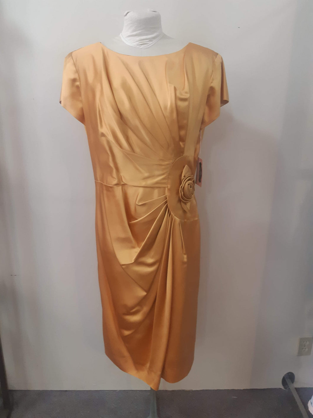 Burnished Gold 1950s wiggle dress