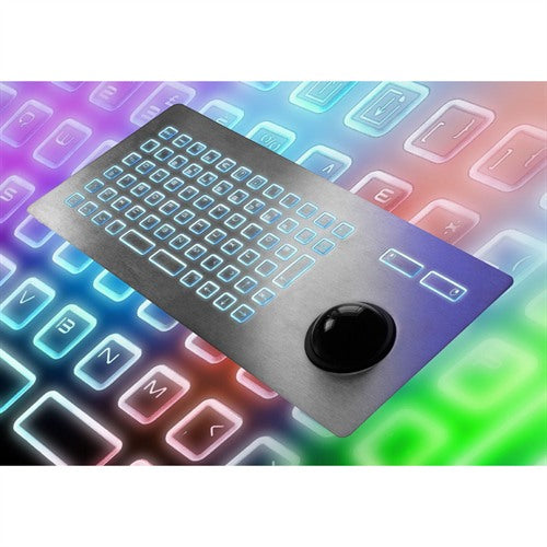 CKS 72Ti Series Illuminated Keyboard with Integrated Trackball