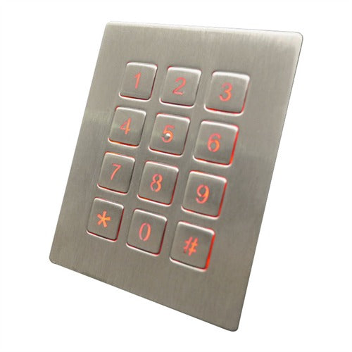 GrafosSteel-12-Square-Key Backlit Number Pad