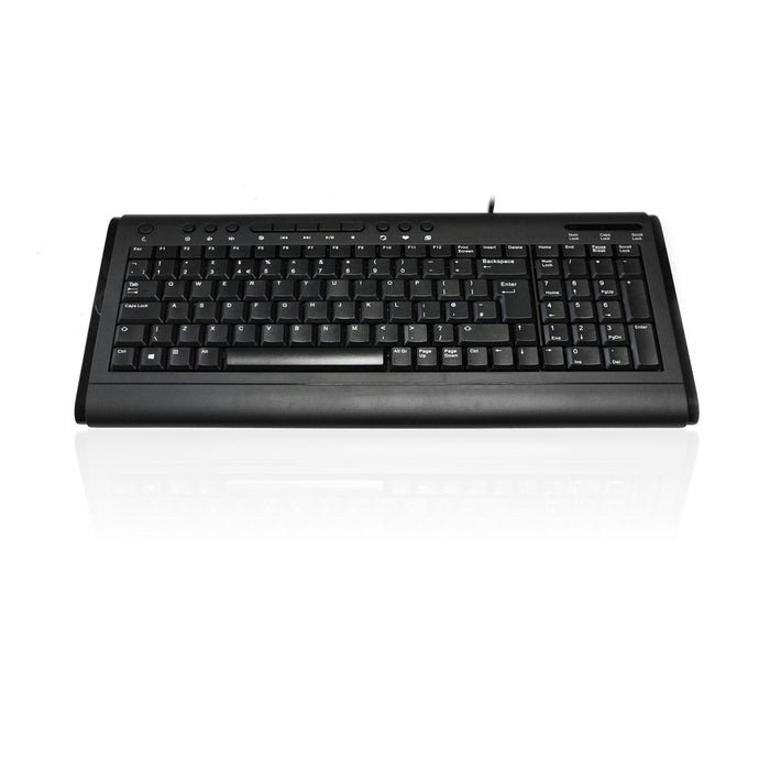 Accuratus KYBAC2200-USBBK 2200 USB Compact Size Multimedia Keyboard