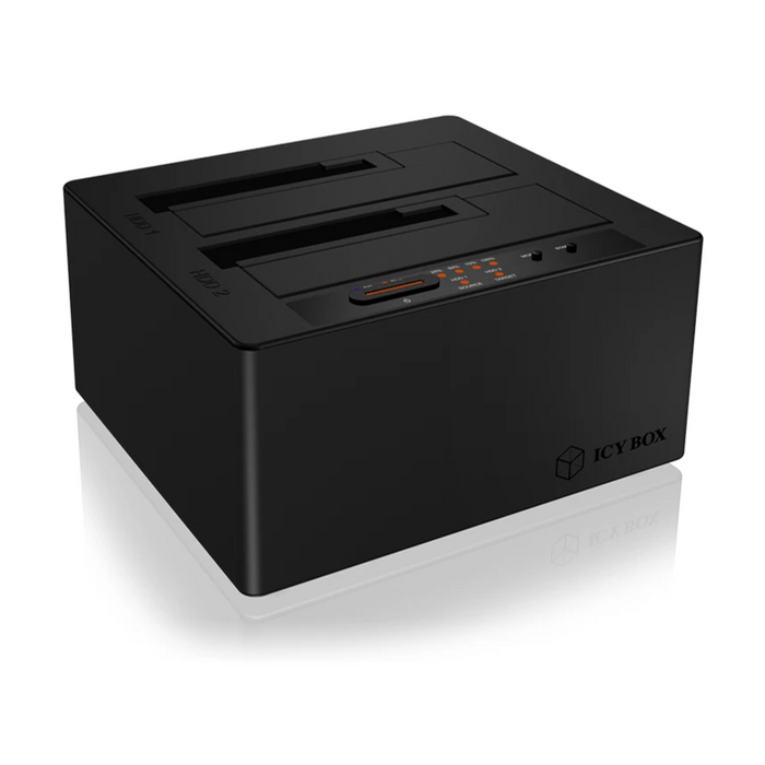 ICY BOX Type-C™ 2 bay Docking and CloneStation with USB 3.1
