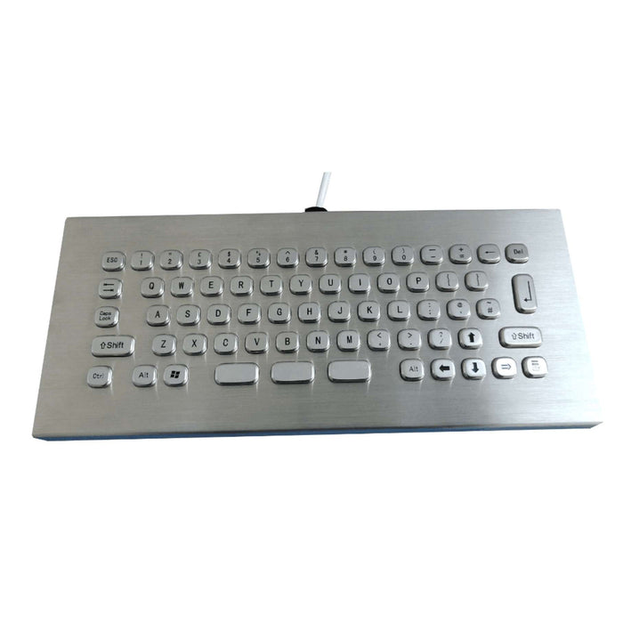 KBS-PC-MINI-DESK Compact Desktop Stainless Steel Keyboard